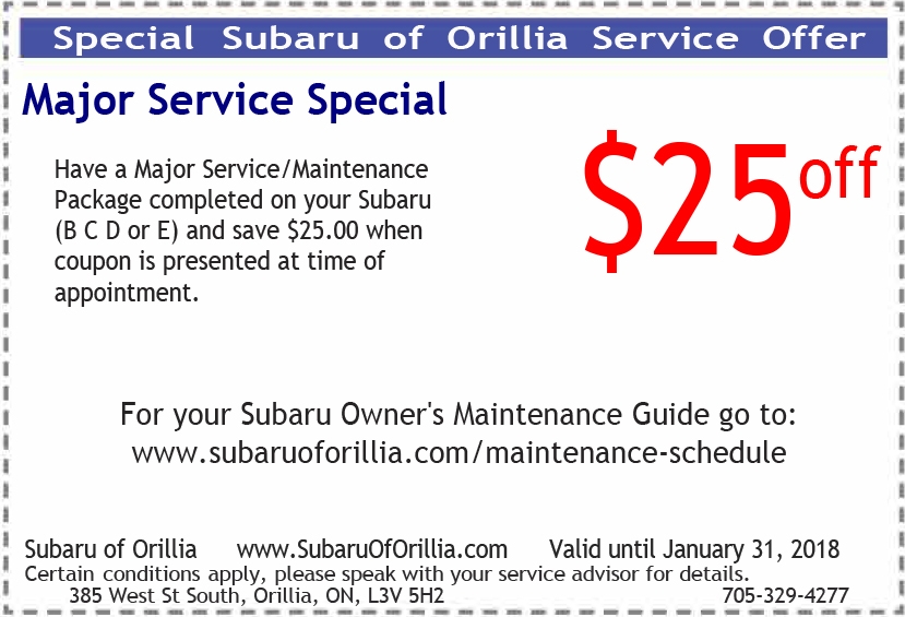 January 2018 Service Special