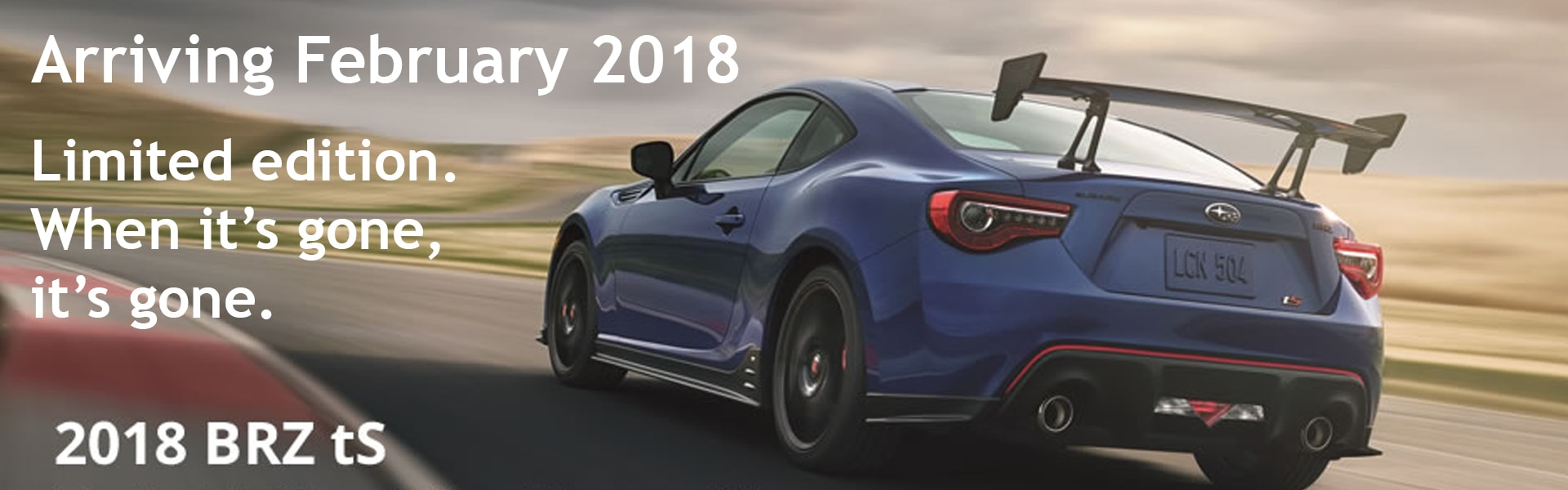 2018 BRX tS Limited Edition