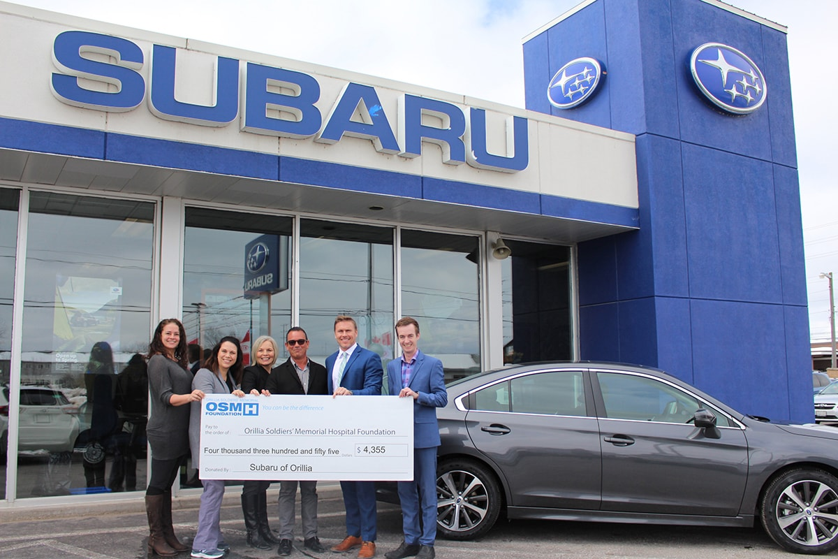 Subaru Ski Day Check Presentation