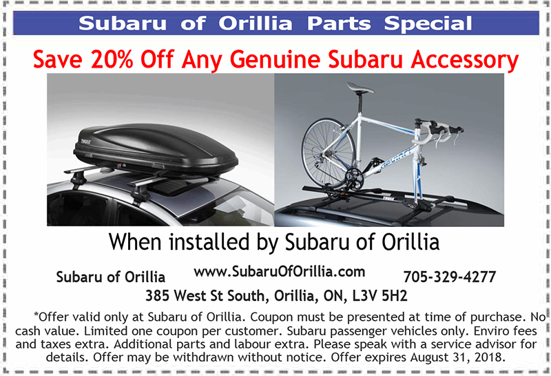 Save 20% Off Any Genuine Subaru Accessory